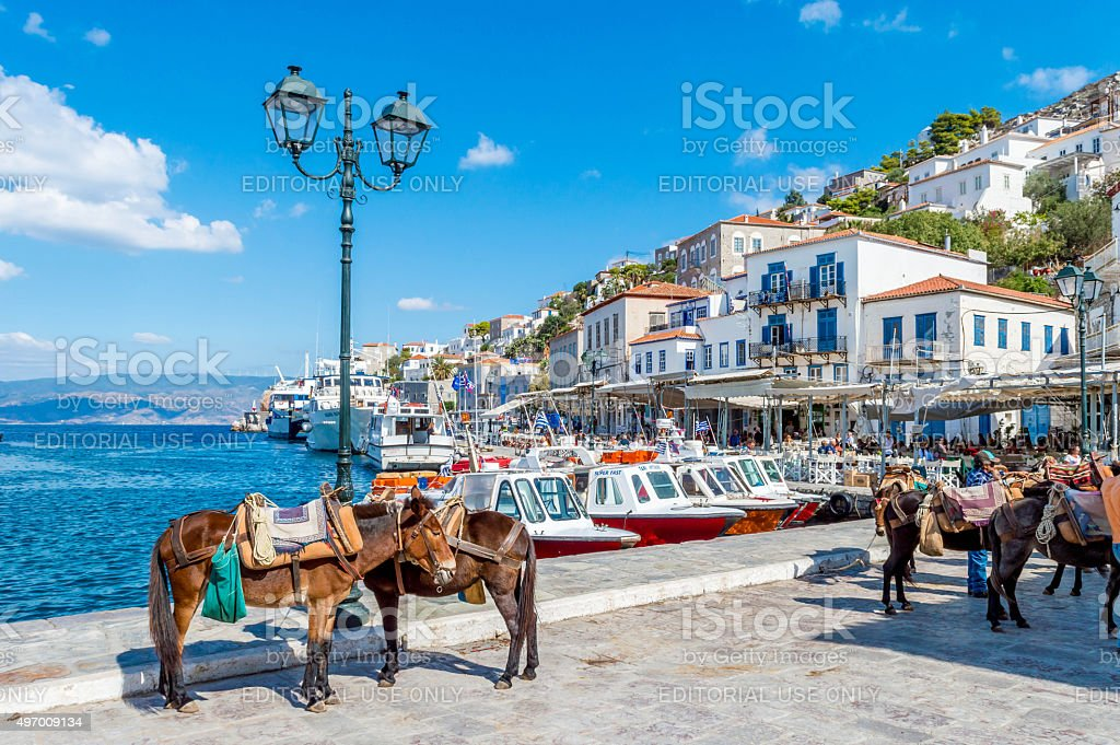 Peaceful island of Hydra stock photo