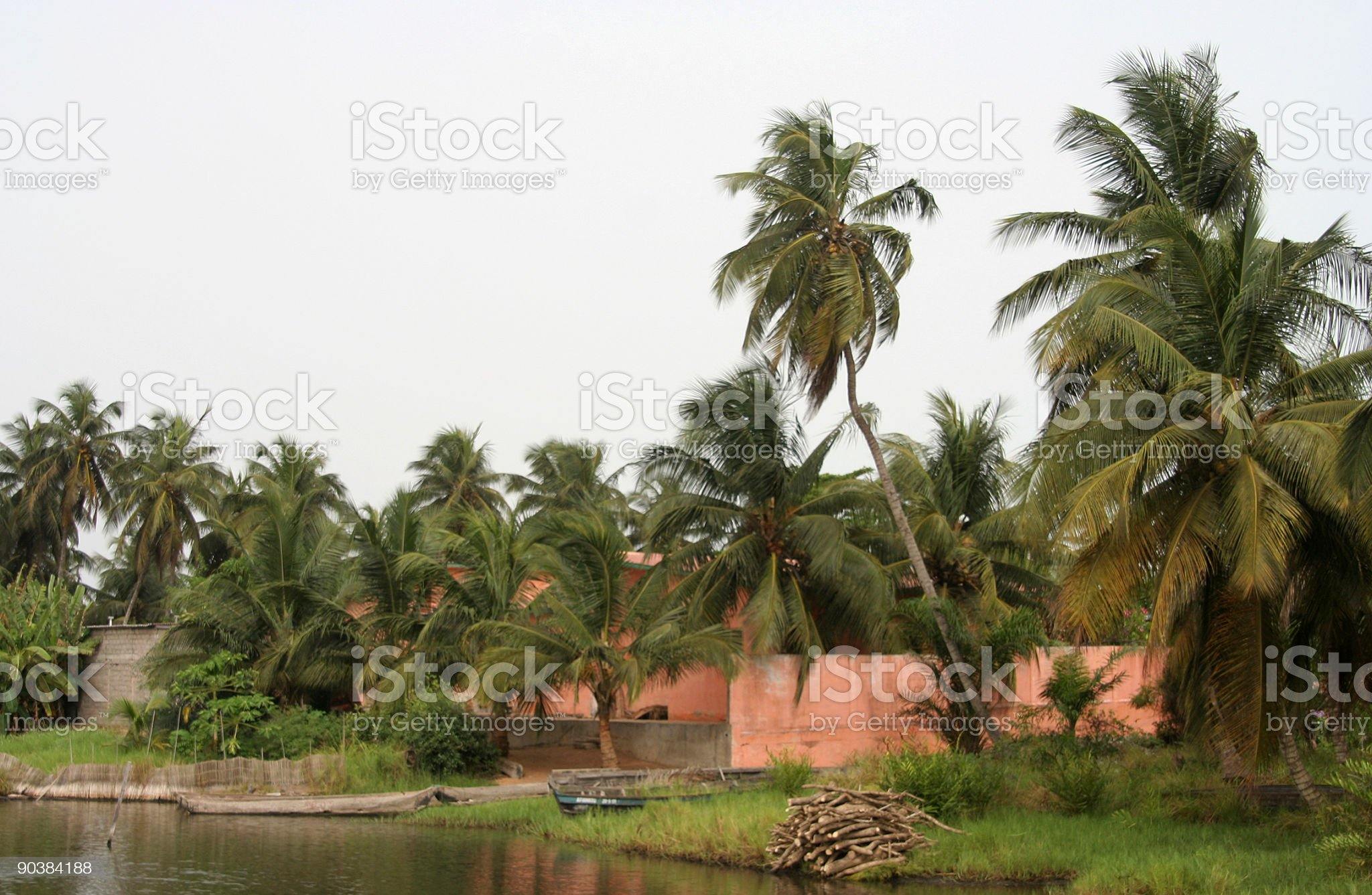 peaceful lagoon area royalty-free stock photo