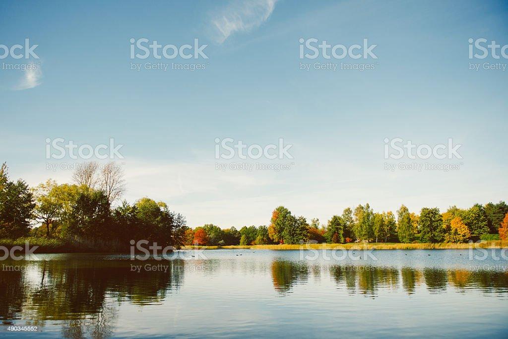 Peaceful lake stock photo