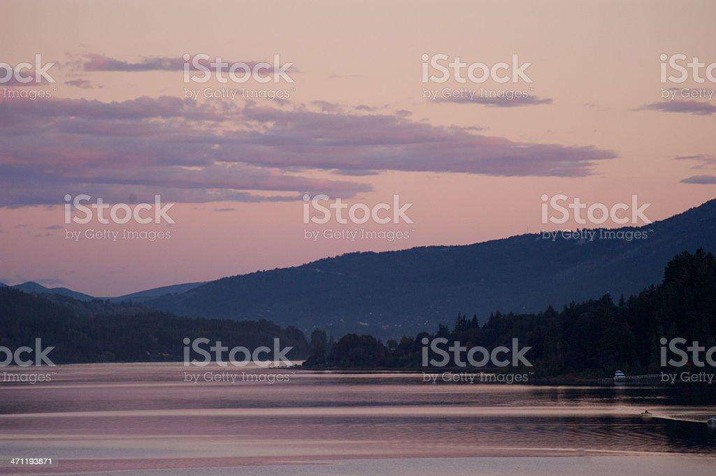 Peaceful landscape in Nahuel Huapi lake, Patagonia, Argentina stock photo