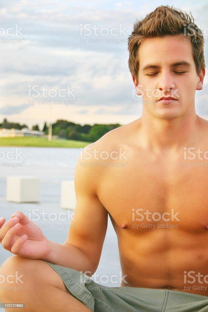 Peaceful Meditation stock photo