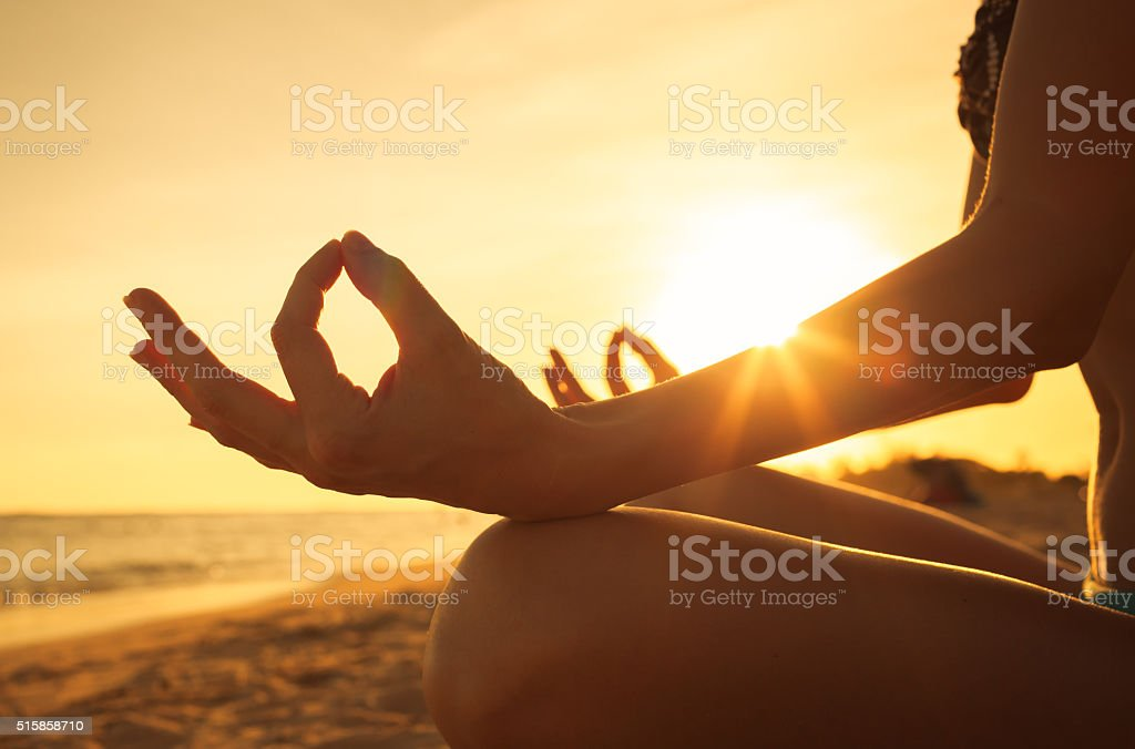 Peaceful meditation stock photo