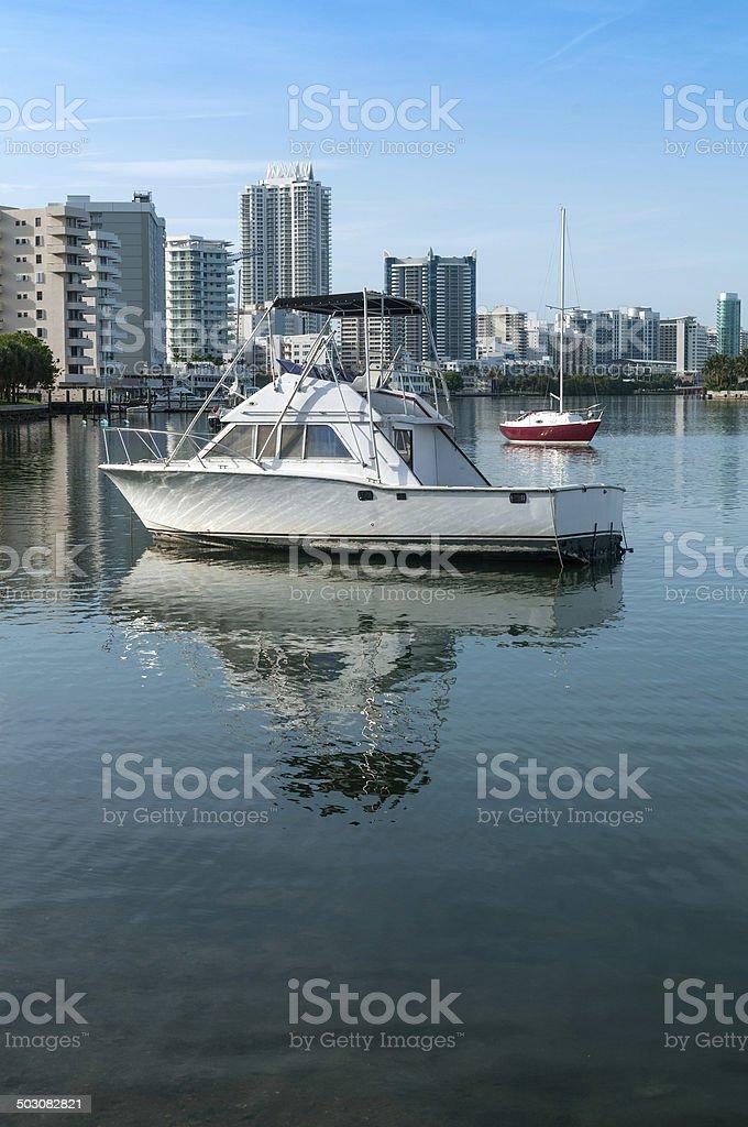 Peaceful Miami Beach stock photo