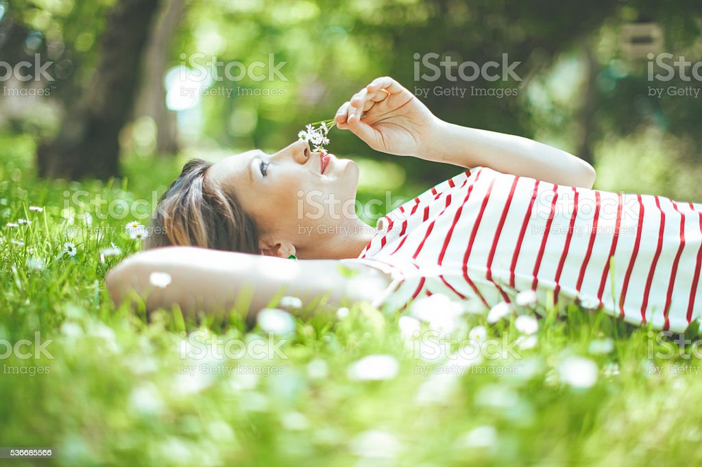 Peaceful moment stock photo
