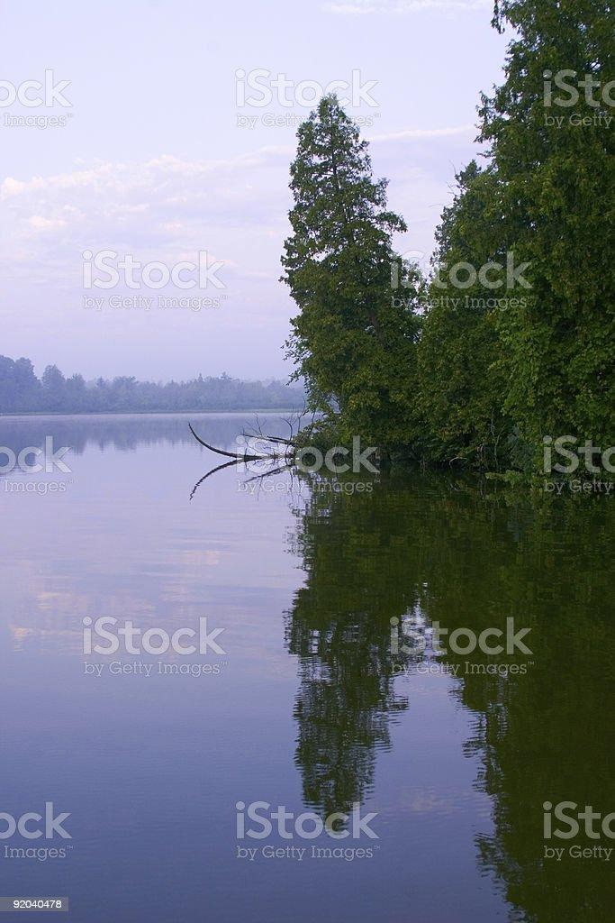 Peaceful Morning Sunrise stock photo
