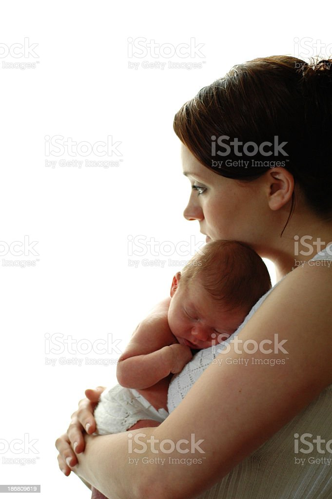 Peaceful Mother & Newborn royalty-free stock photo