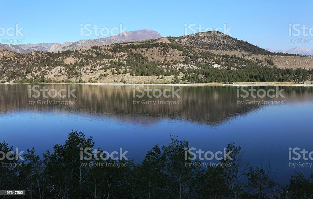 Peaceful Mountain June Lake stock photo