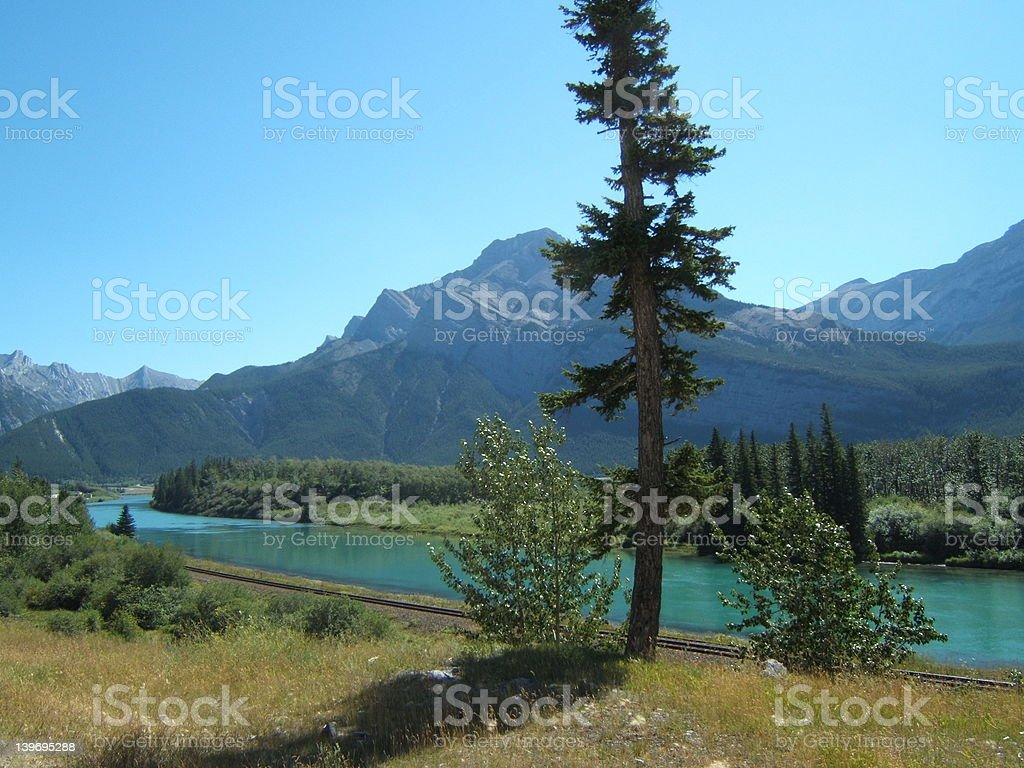 Peaceful mountain view royalty-free stock photo