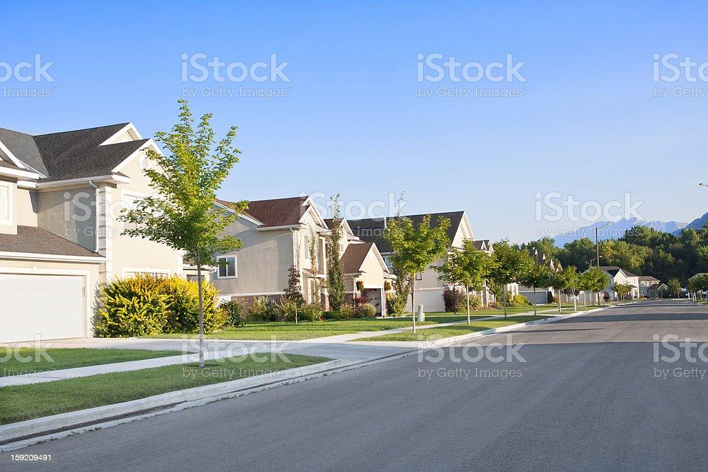 Peaceful Neighborhood stock photo