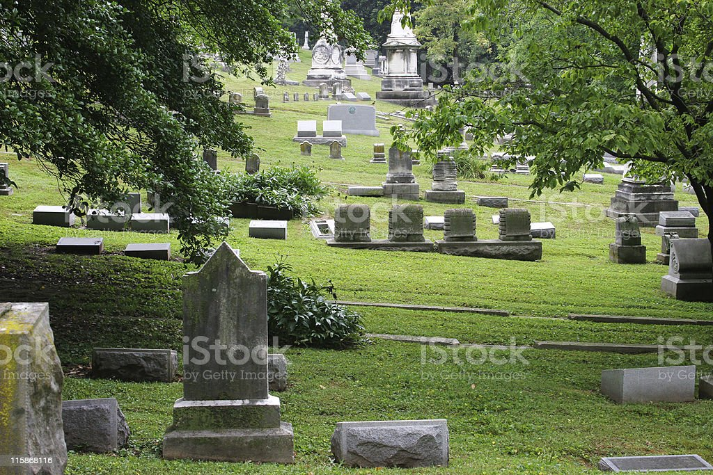 Peaceful Old Cemetary stock photo