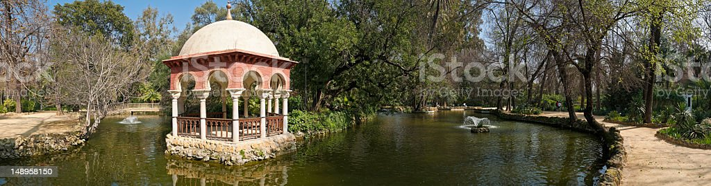 Peaceful park tranquil urban oasis Seville royalty-free stock photo