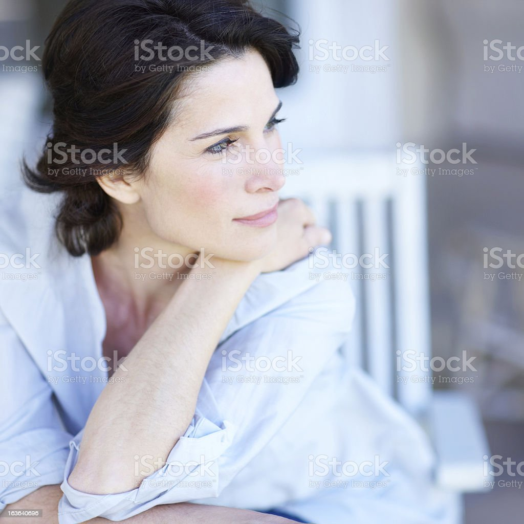 Peaceful ponderer royalty-free stock photo