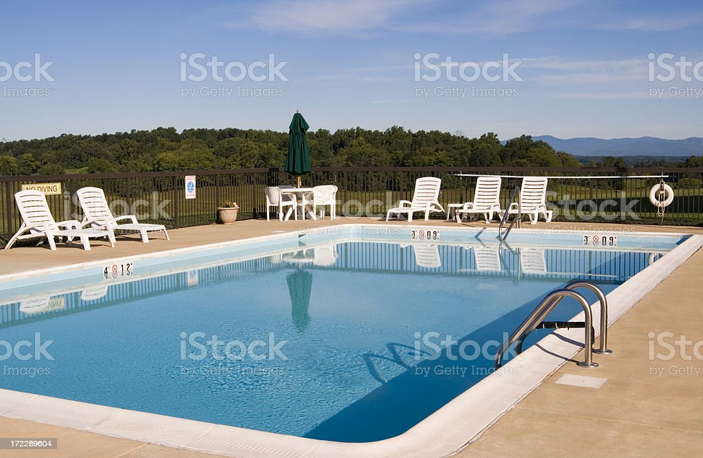 Peaceful pool royalty-free stock photo