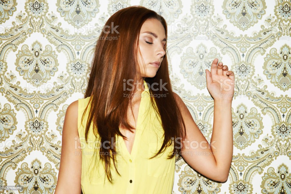 Peaceful posing royalty-free stock photo