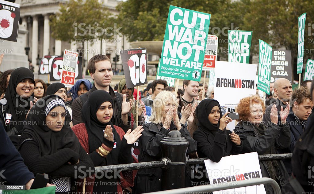 Peaceful protest stock photo