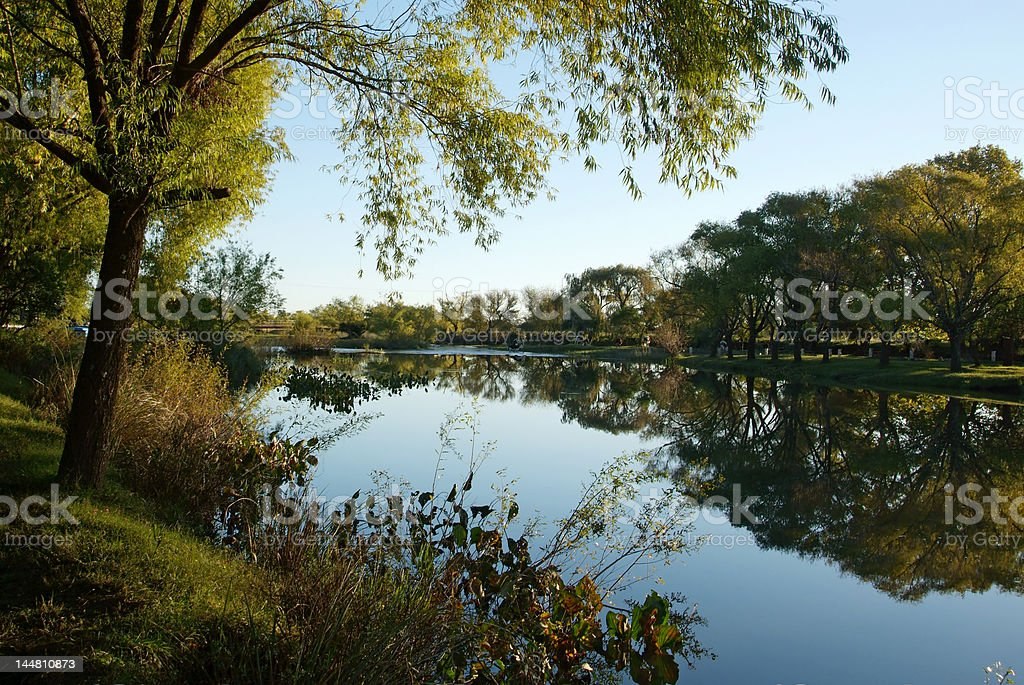 Peaceful river stock photo