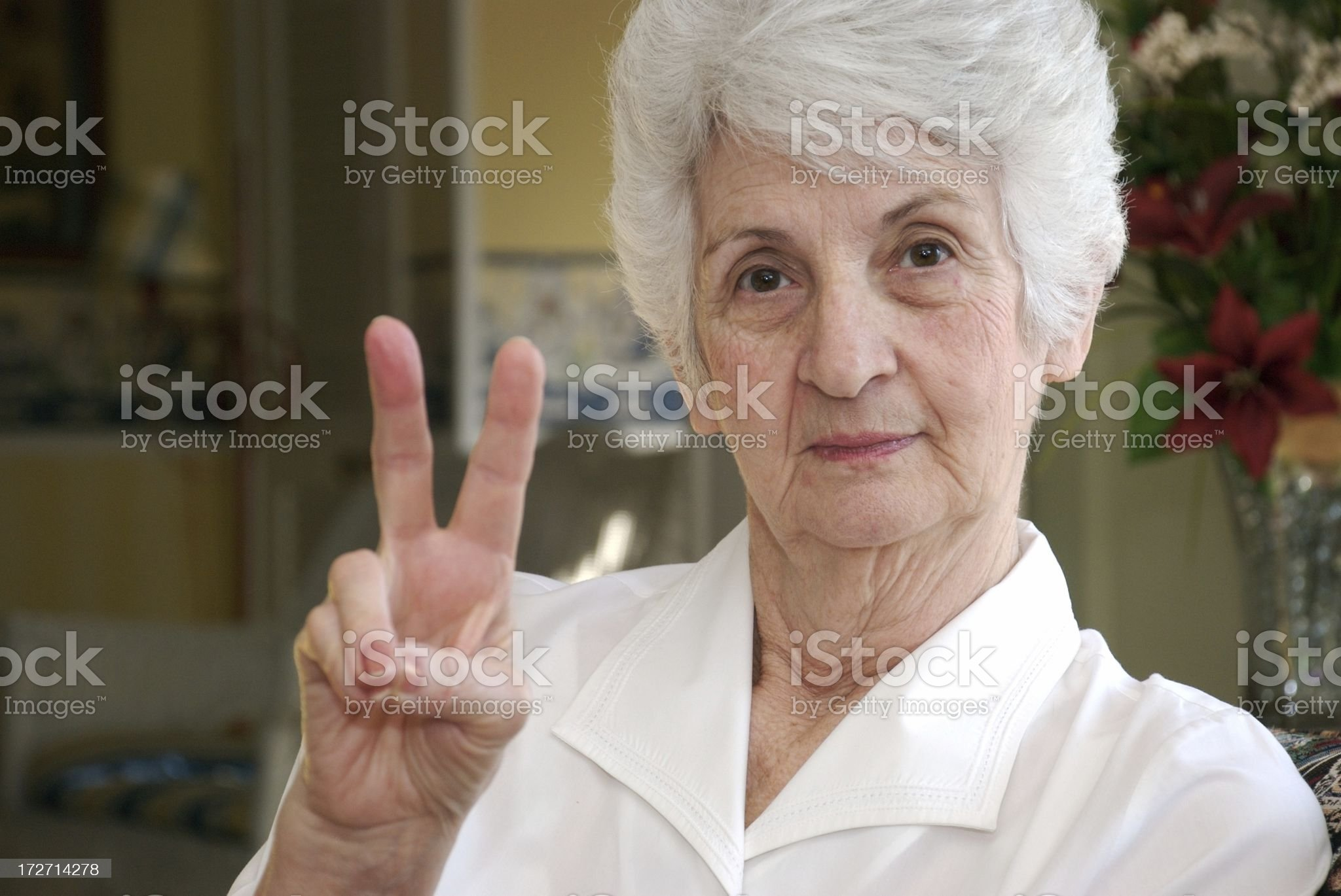Peaceful Senior Citizen royalty-free stock photo