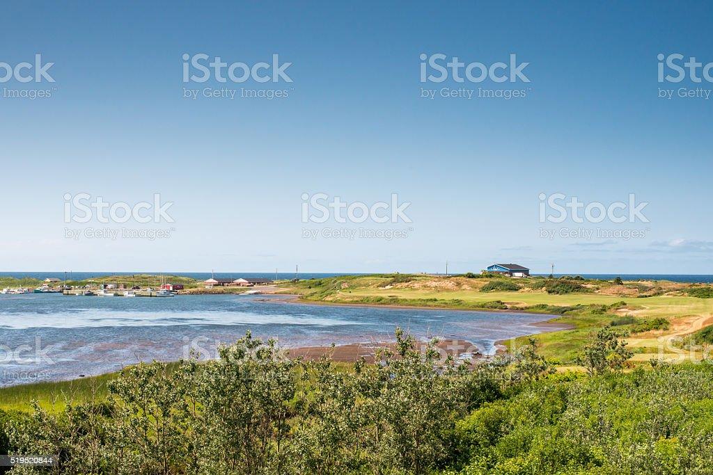 Peaceful shore line of Cape Breton Island stock photo