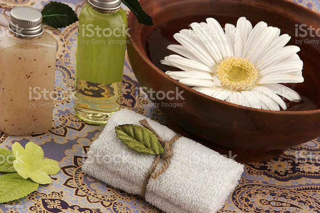 peaceful spa scene royalty-free stock photo