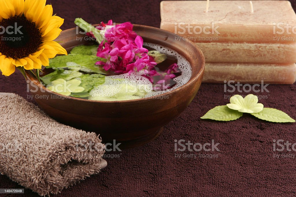 peaceful spa scene royalty-free stock photo