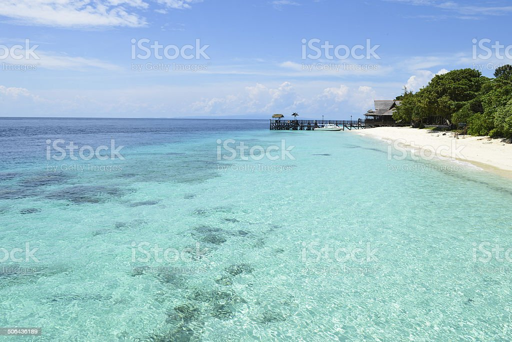 peaceful tropical island resort, vacation destination royalty-free stock photo