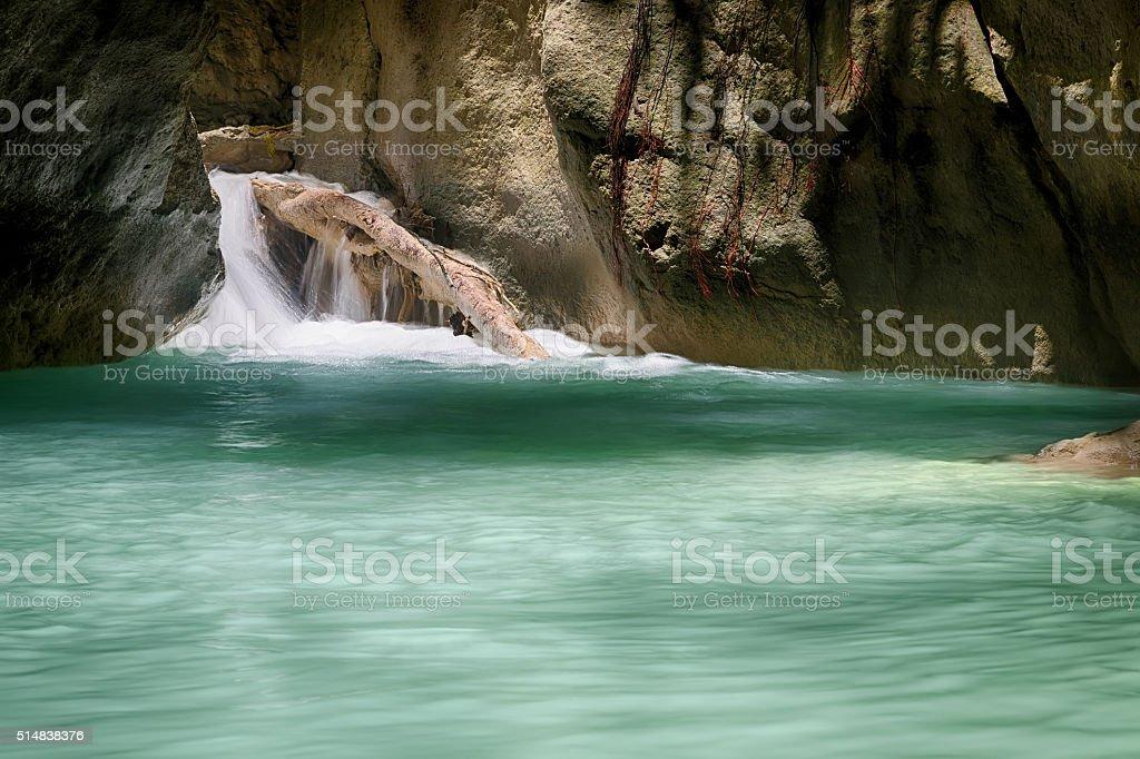 Ruhige tropische Wasserfall Lizenzfreies stock-foto