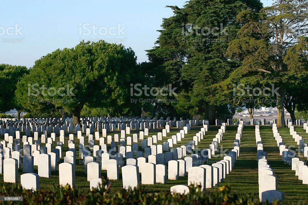 Peaceful Veteran Graveyard royalty-free stock photo