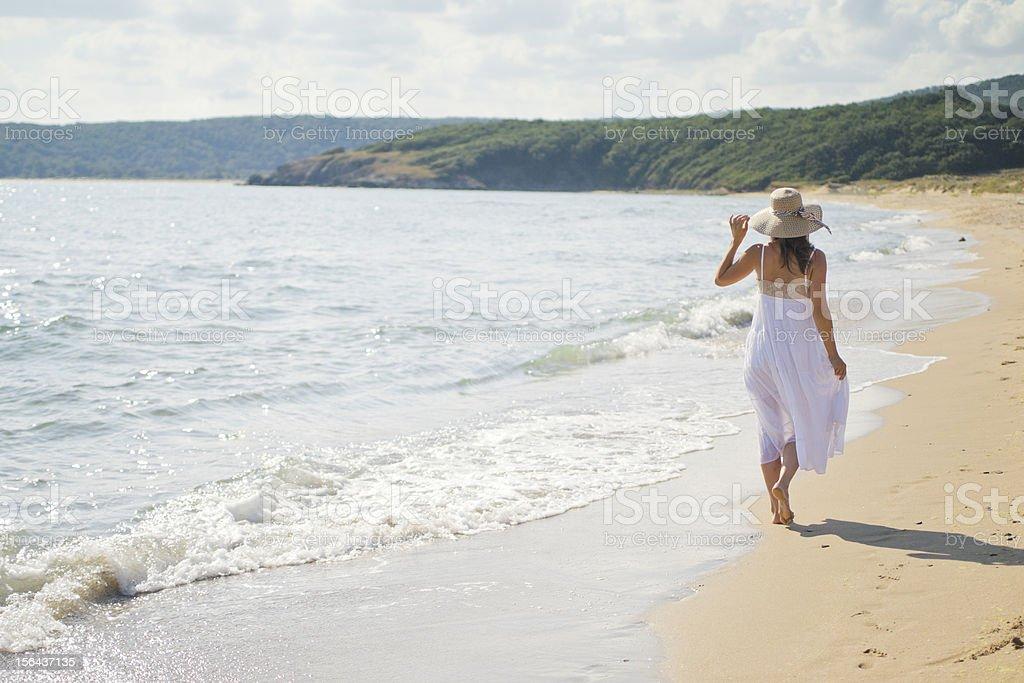 Peaceful walk along the coast royalty-free stock photo