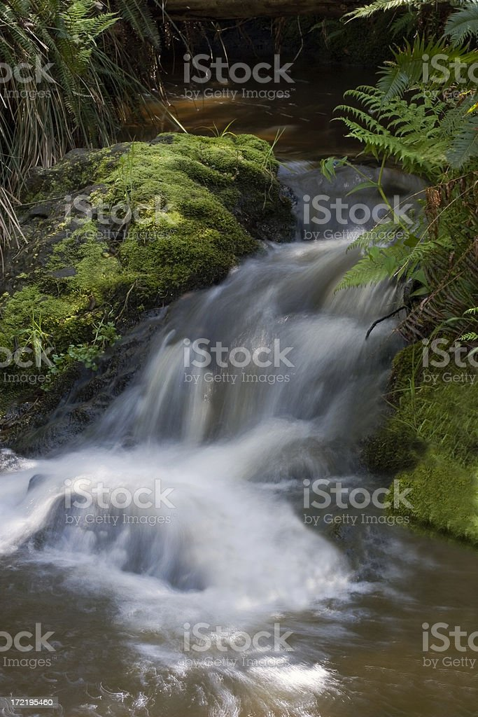 Peaceful Waterfal stock photo