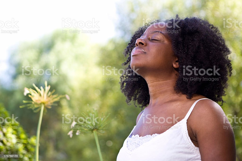 Peaceful woman royalty-free stock photo