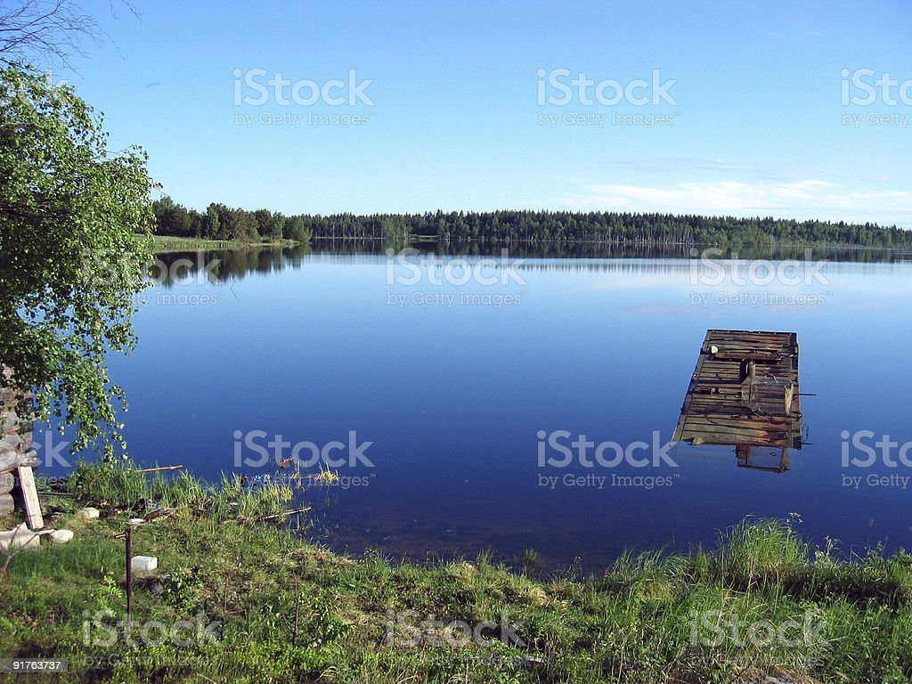 Peacefull Karelian lake royalty-free stock photo