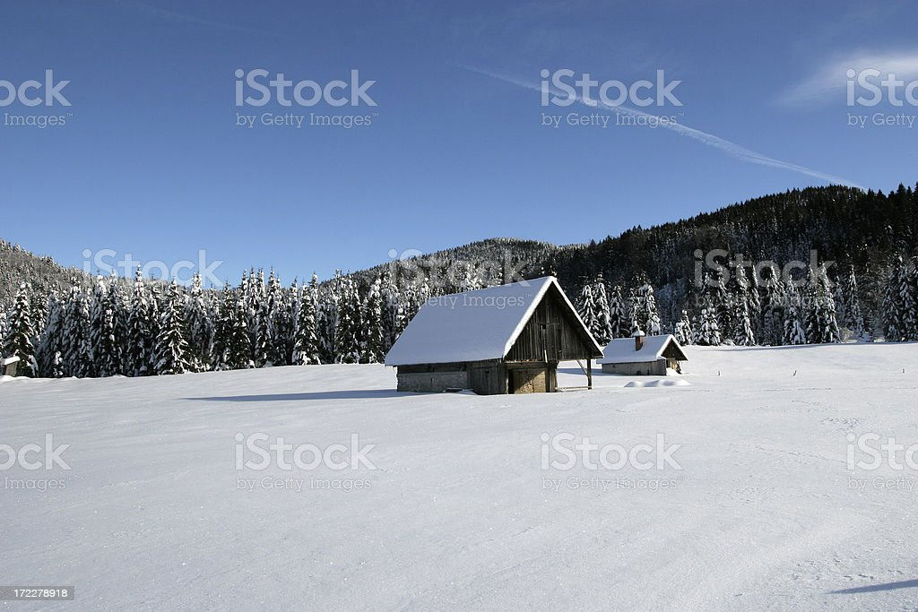 Peacefull valley stock photo