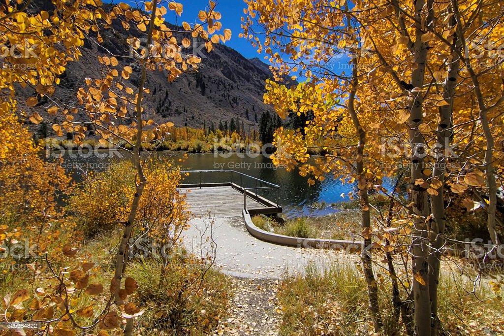 Peacefull walkway. stock photo