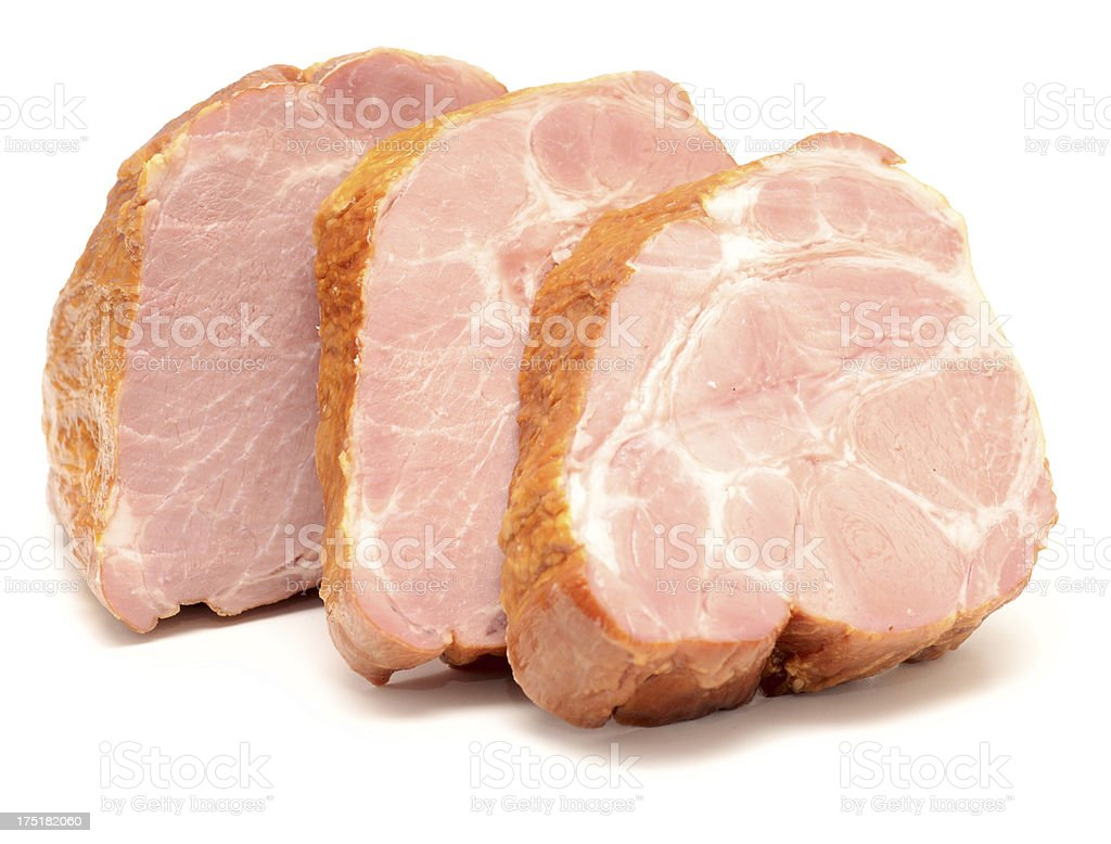 peaces of meat stock photo