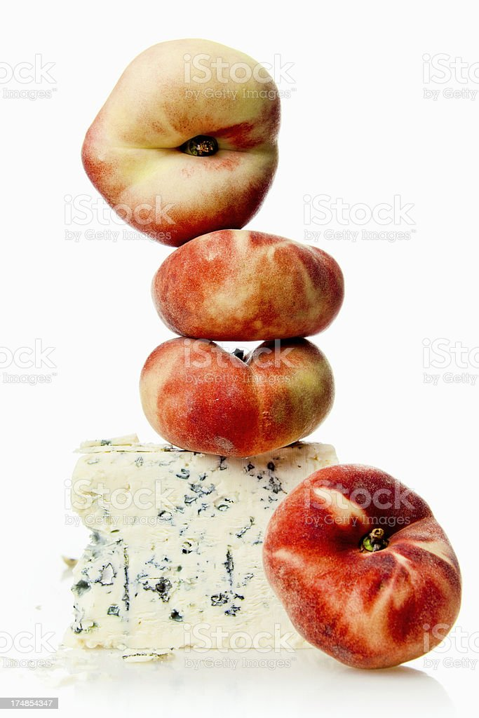 Peach and Cheese royalty-free stock photo
