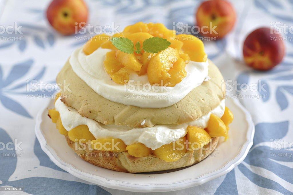 Peach and Cream Shortcake royalty-free stock photo