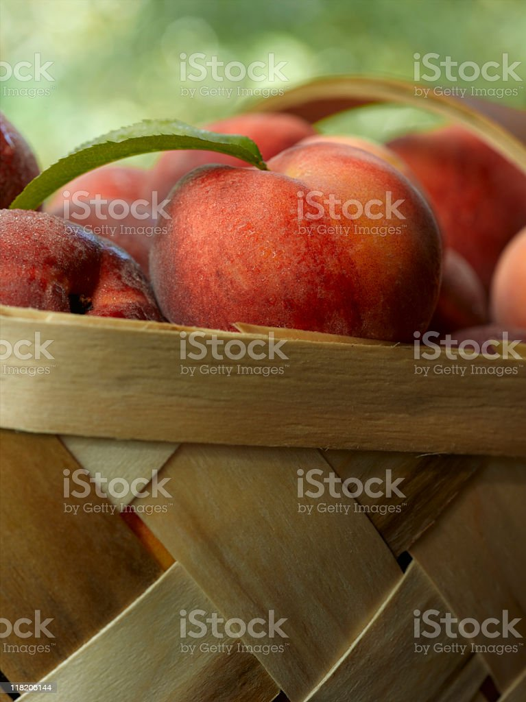 Peach Basket stock photo