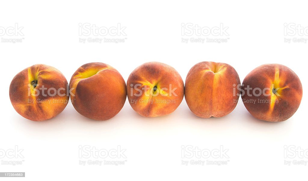 Peach Border on White royalty-free stock photo