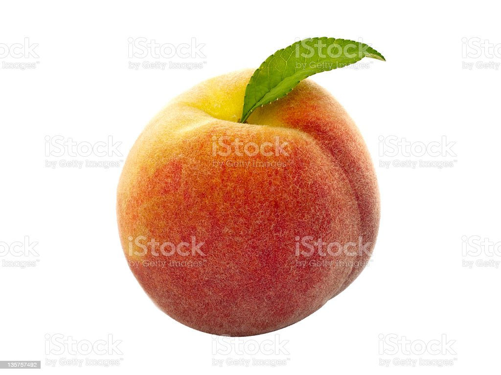 Peach Clipping path included. royalty-free stock photo