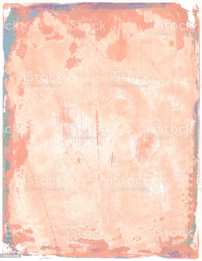 Peach colored grungy textured background stock photo