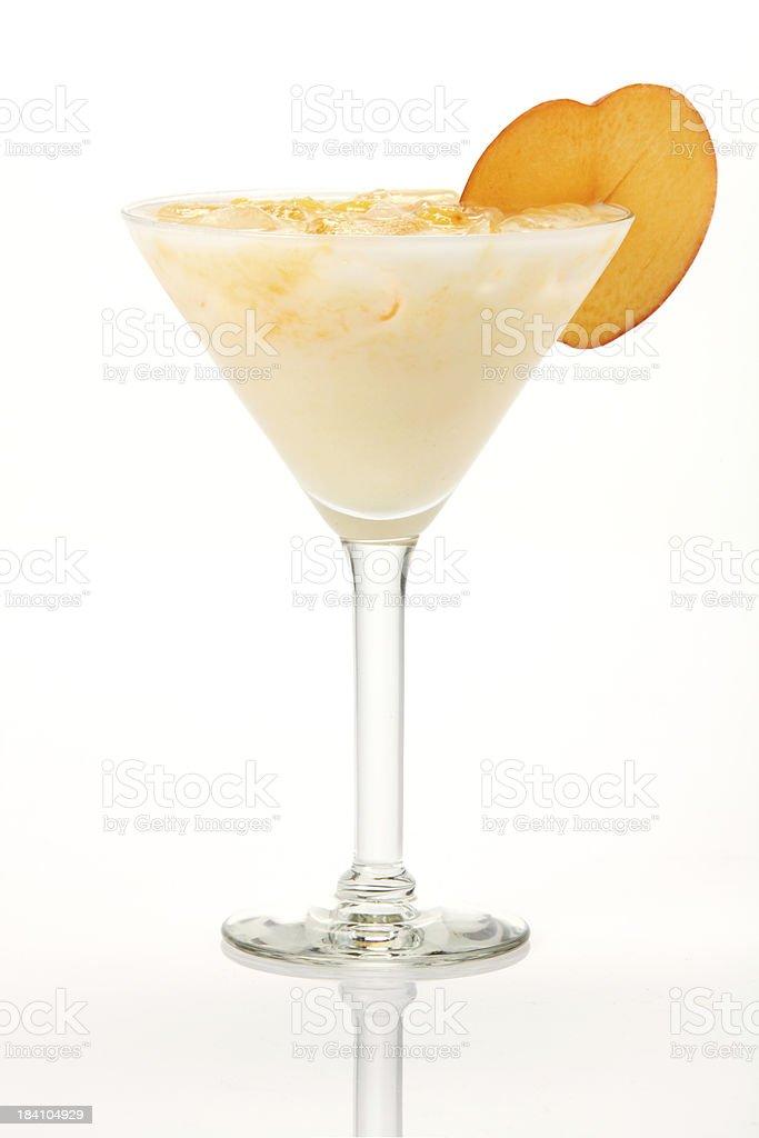 Peach Daiquiri royalty-free stock photo