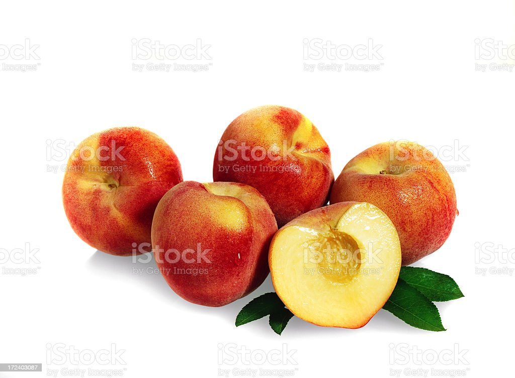 Peach group with Leafs royalty-free stock photo