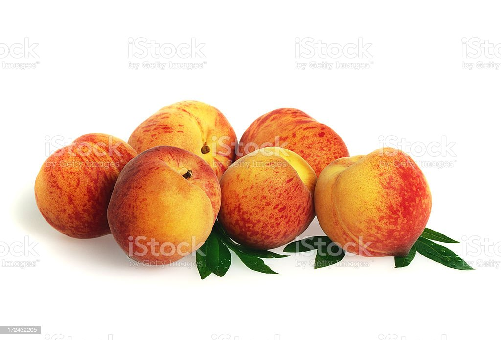 Peach heap with Leafs royalty-free stock photo