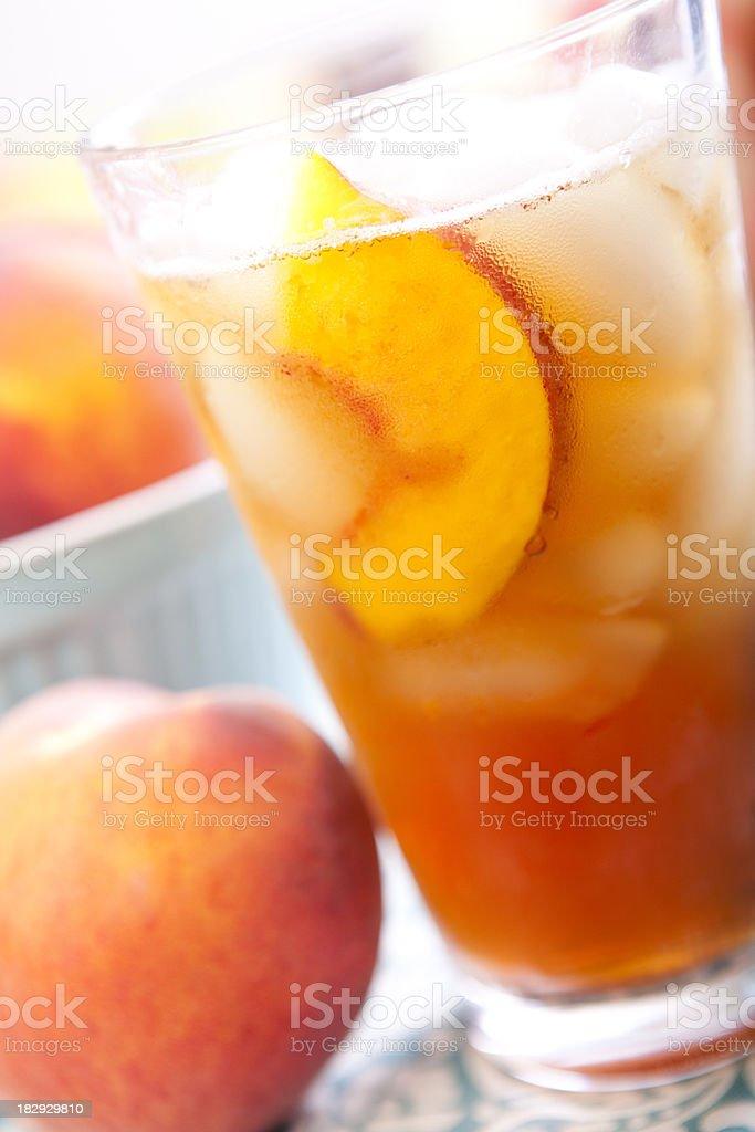 Peach Iced Tea royalty-free stock photo