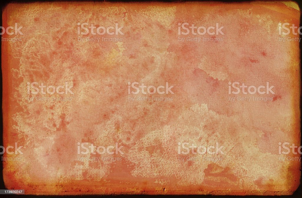 Peach Infernos Card royalty-free stock photo