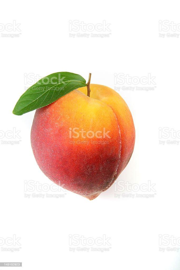 Peach Isolated royalty-free stock photo