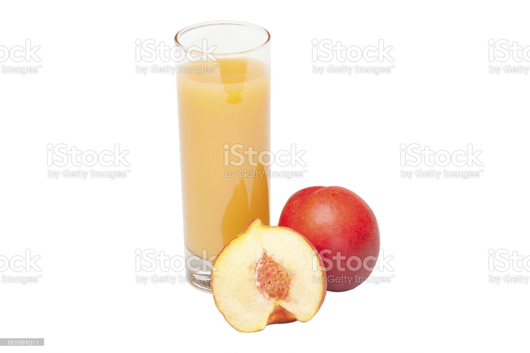 Peach juice royalty-free stock photo