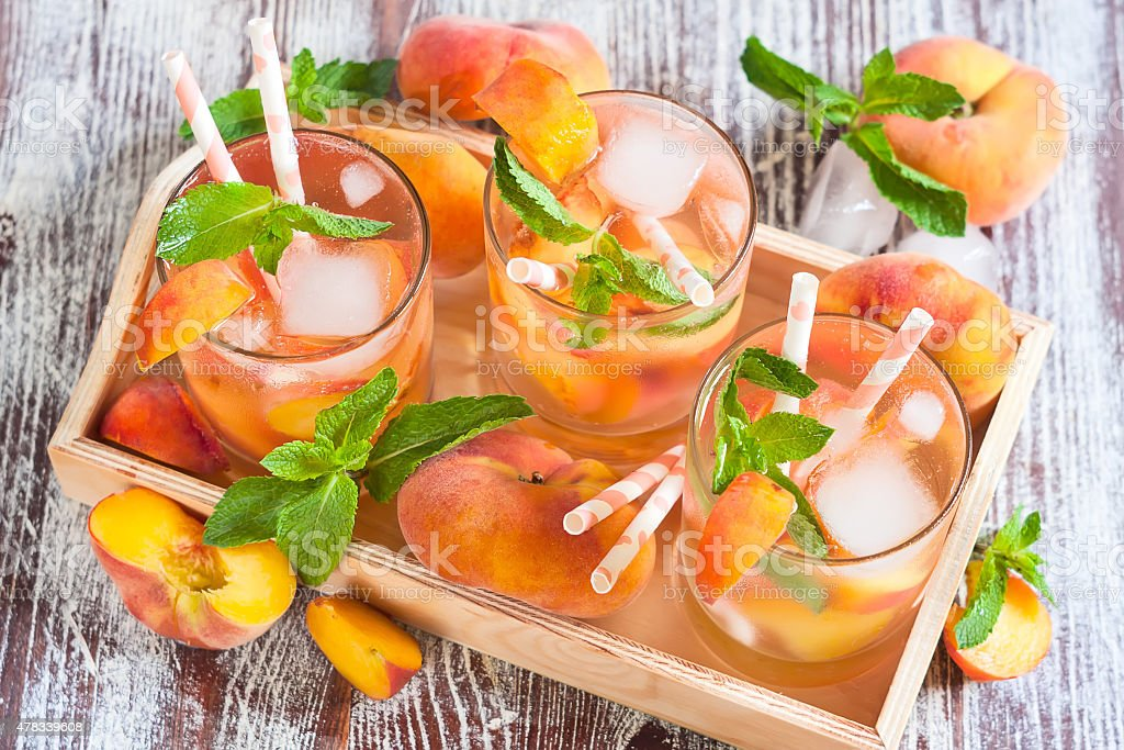 Peach lemonade stock photo
