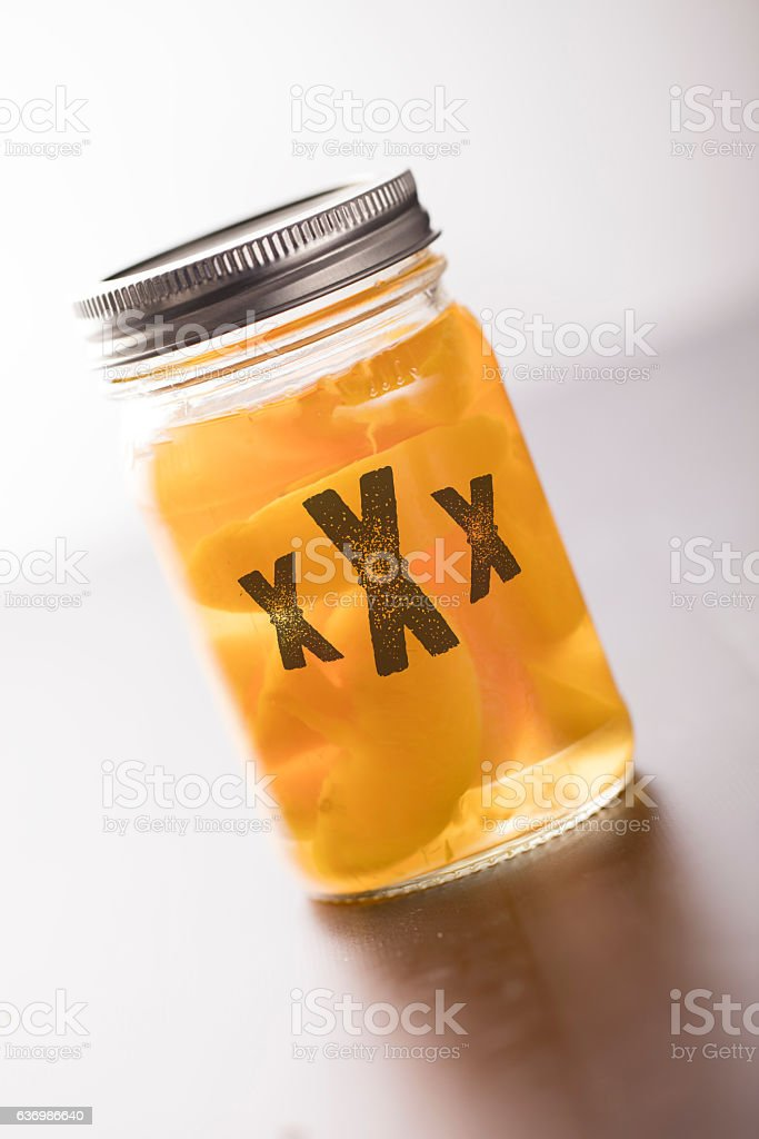 Peach Moonshine stock photo