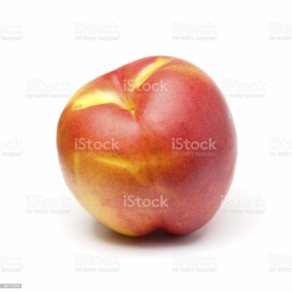 Peach on White stock photo